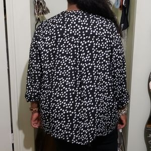 Avenue Tops - Avenue Black & White Polka Dot Blouse (26/28)